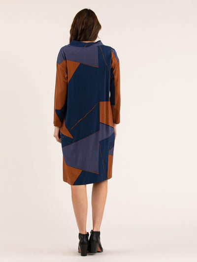 Toffee Abstract Dress