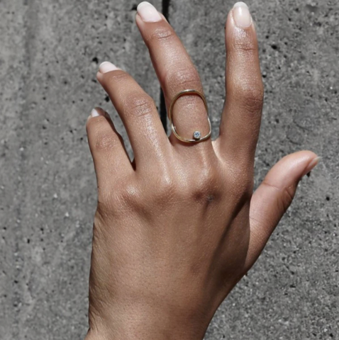 WHITE/SPACE ring