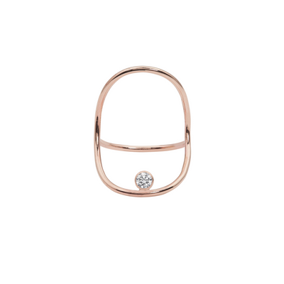 MODERN MINIMAL CONTINUITY DIAMOND RING
