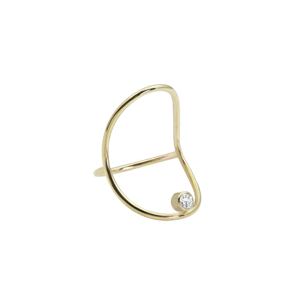 white space jewelry diamond circle continuity ring