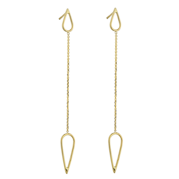 Chained Teardrop Earrings