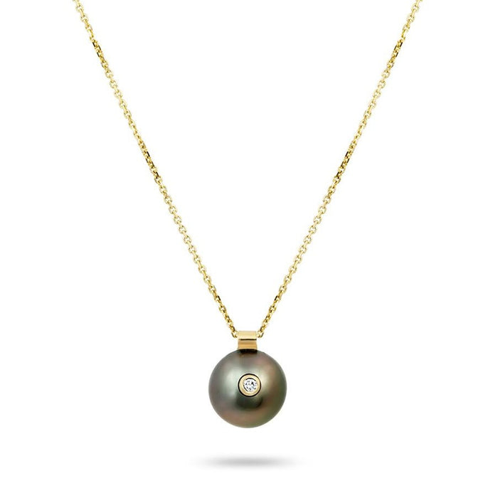 EVERLY NECKLACE, BLACK PEARL