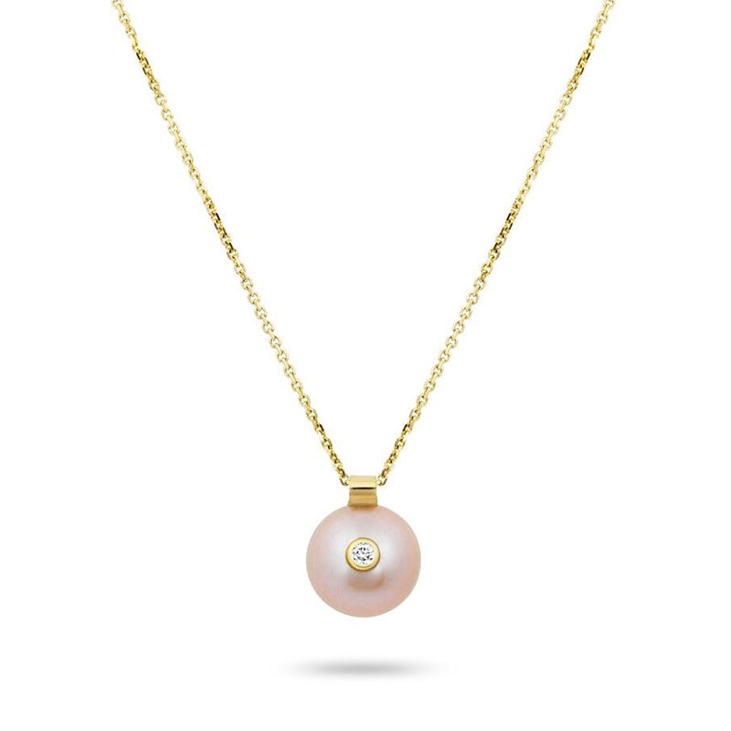 EVERLY NECKLACE, PINK PEARL