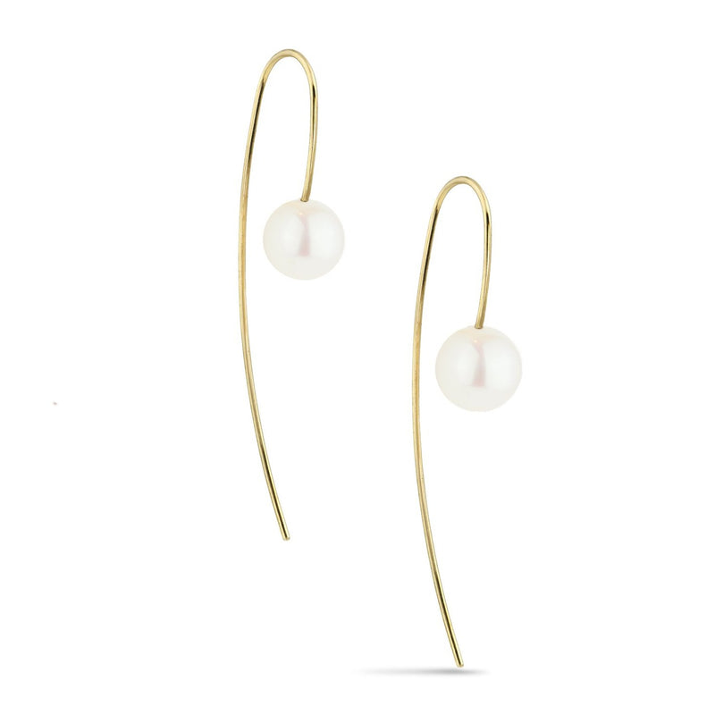 NOVA PEARL EARRINGS, WHITE
