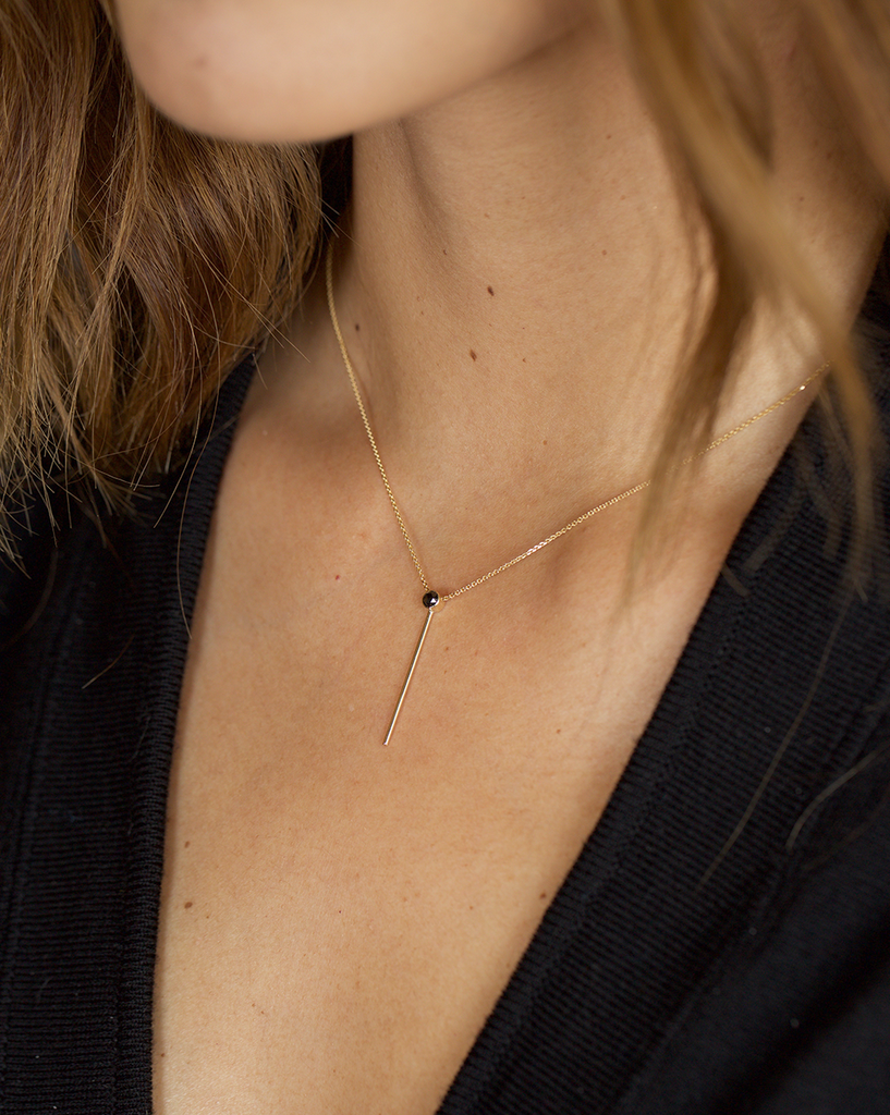 COLONNA NECKLACE, BLACK DIAMOND