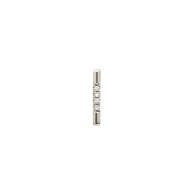 PAVÉ LINEA STUD, WHITE DIAMOND