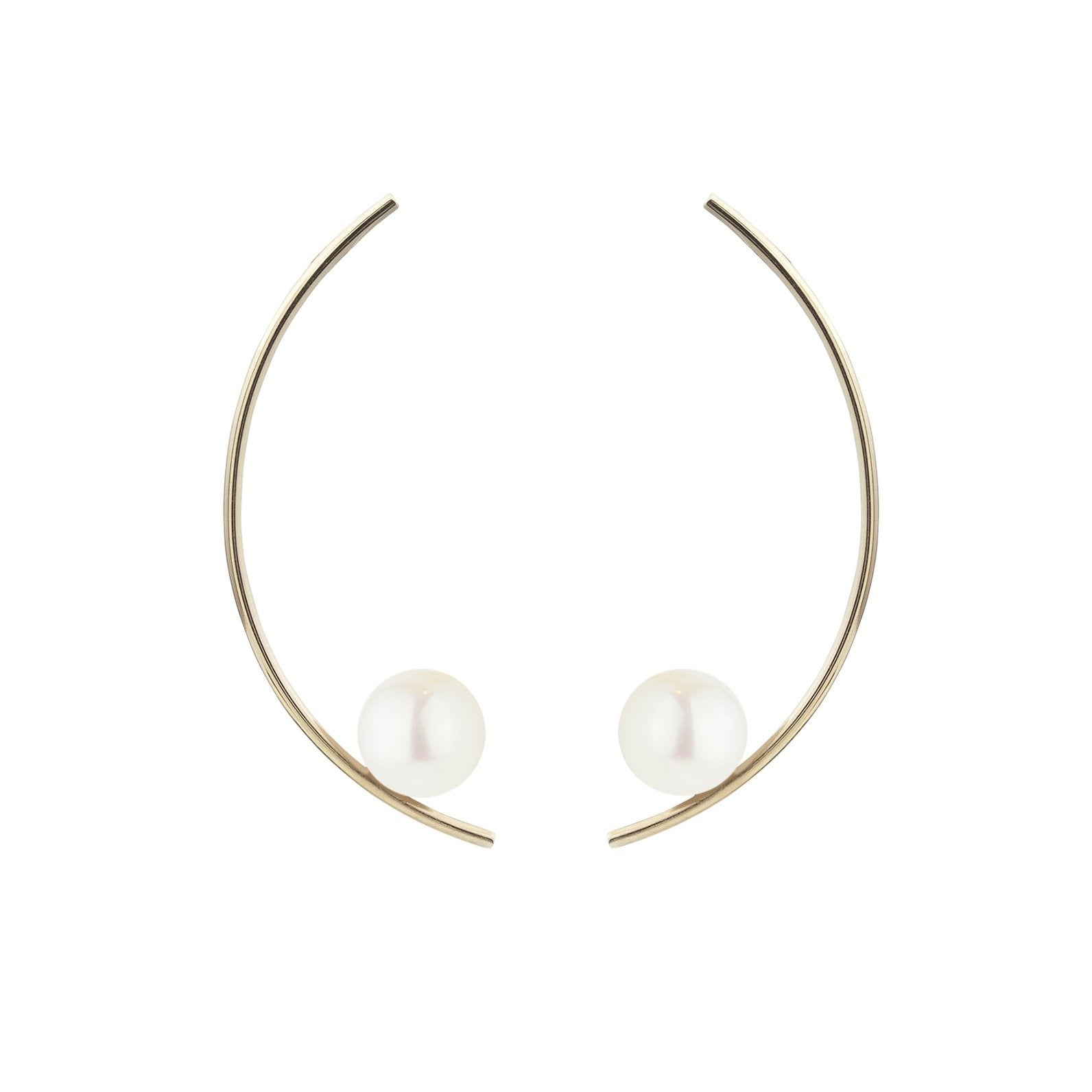 TREVISO EARRINGS, WHITE PEARL