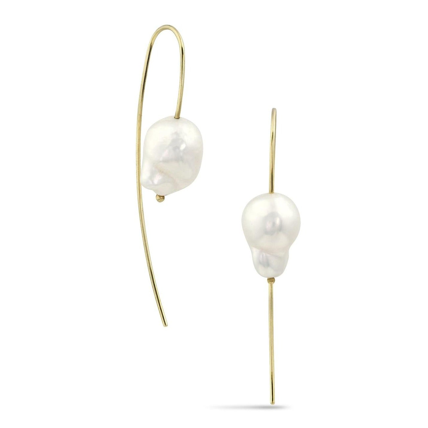 White/Space Jewelry Forme Collection Nova Baroque Pearl Threader Earrings