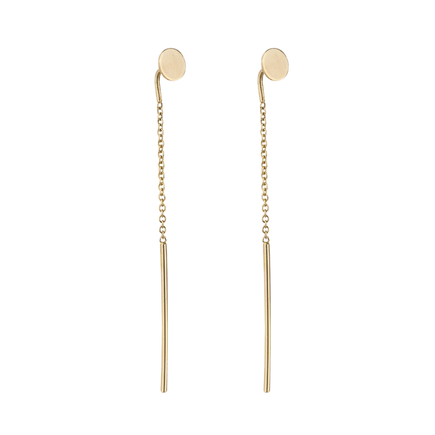 DISC THREADER EARRINGS