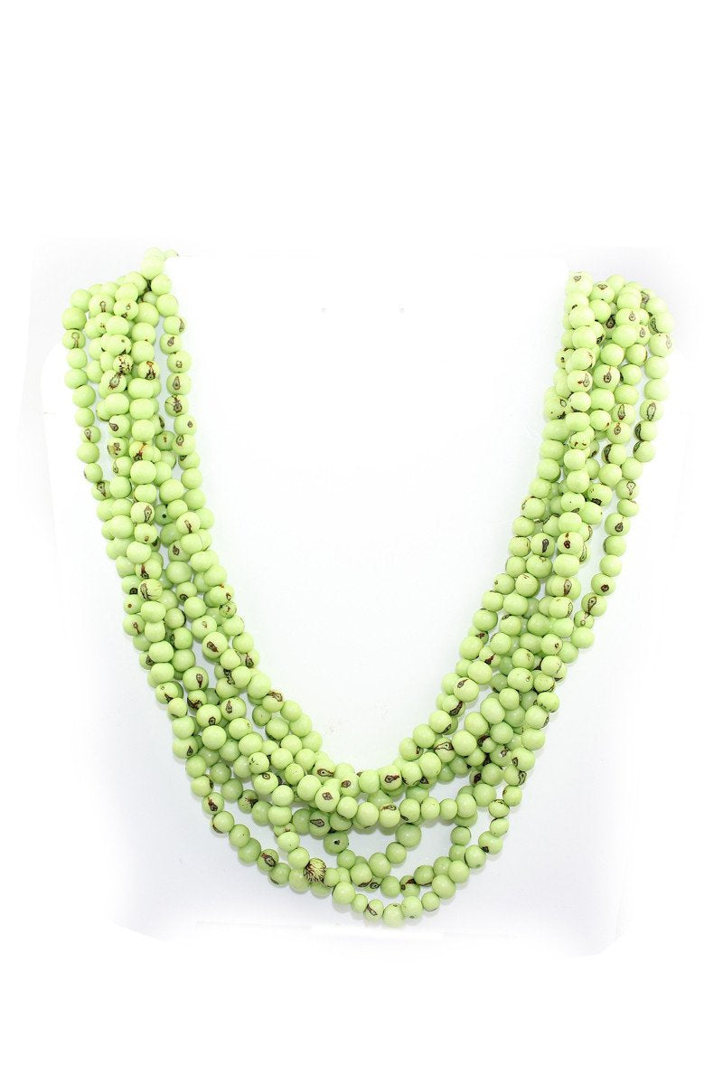 ROUND TWISTED BEADS NECKLACE