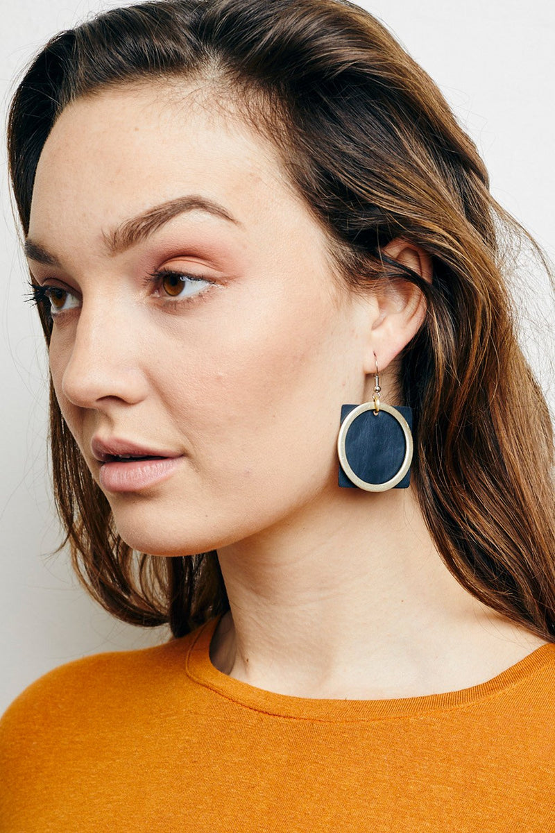 SQUARE & CIRCLE EARRINGS