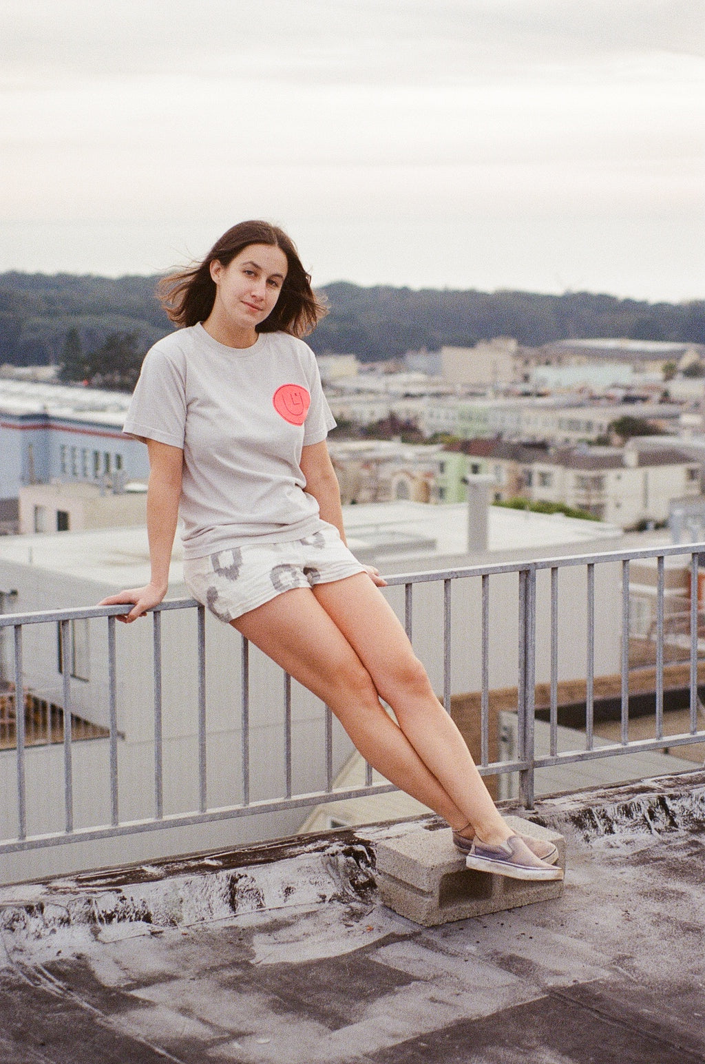 culk face tee san francisco rooftop photoshoot