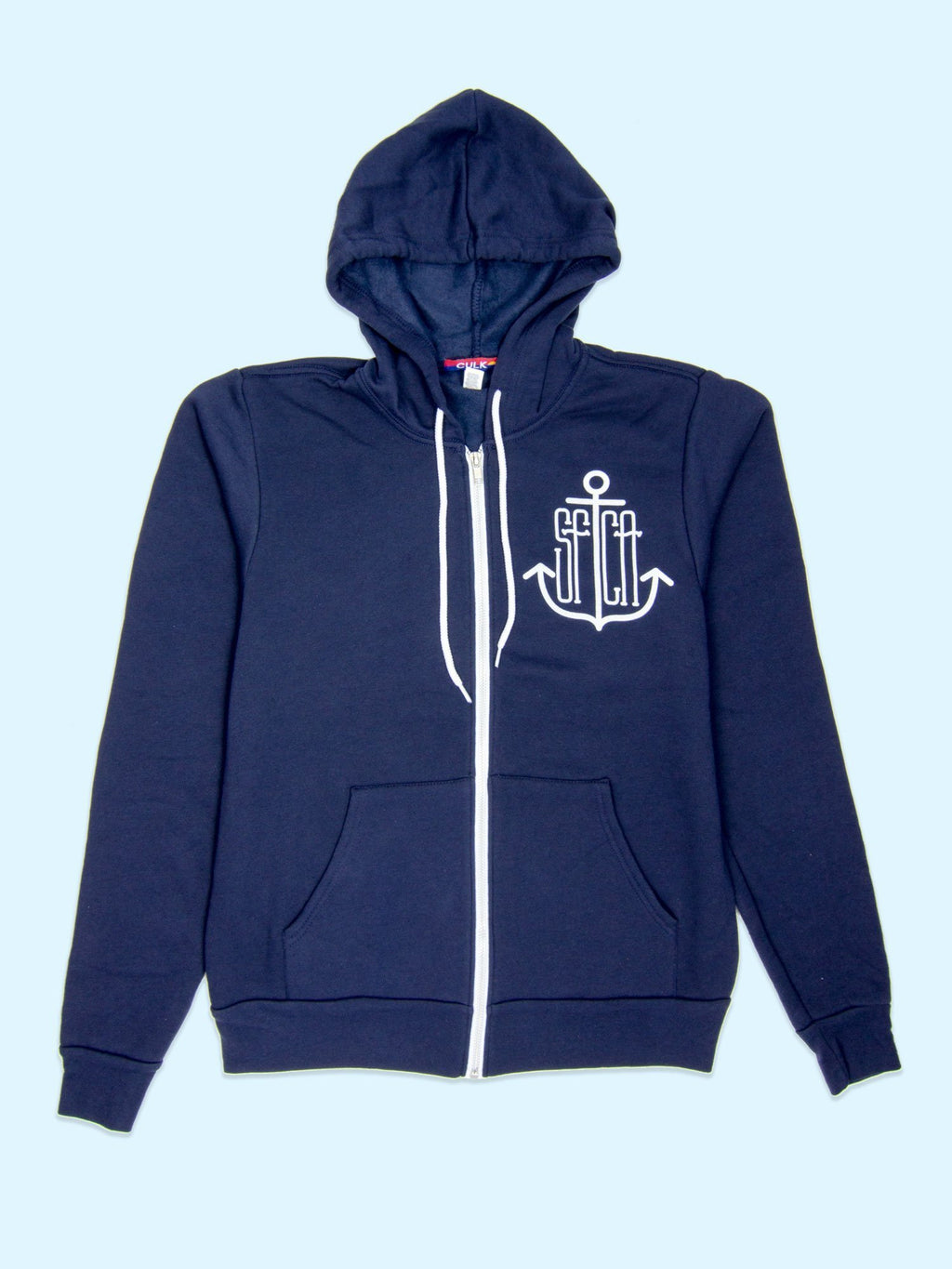 SF Anchor Unisex Zip-up Hoody Navy-Culk