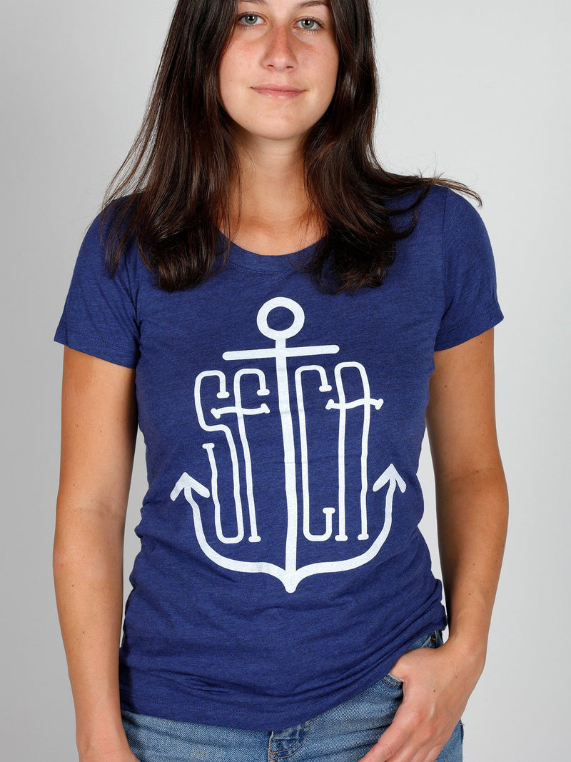 SF Anchor Women's Tee Navy-Culk