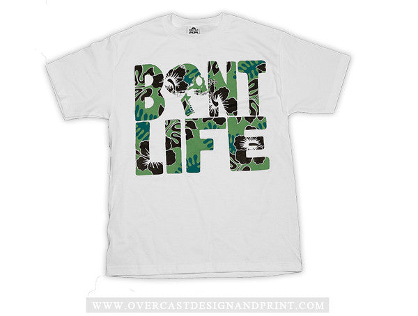 "Bent Life ""Floral Life"" White Tee"