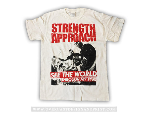 "Strength Approach ""See the World"" White Tee"