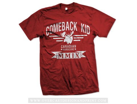 "Comeback Kid ""Moose"" Red Tee"