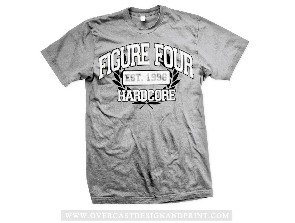 "Figure Four ""Crest"" Grey Tee"
