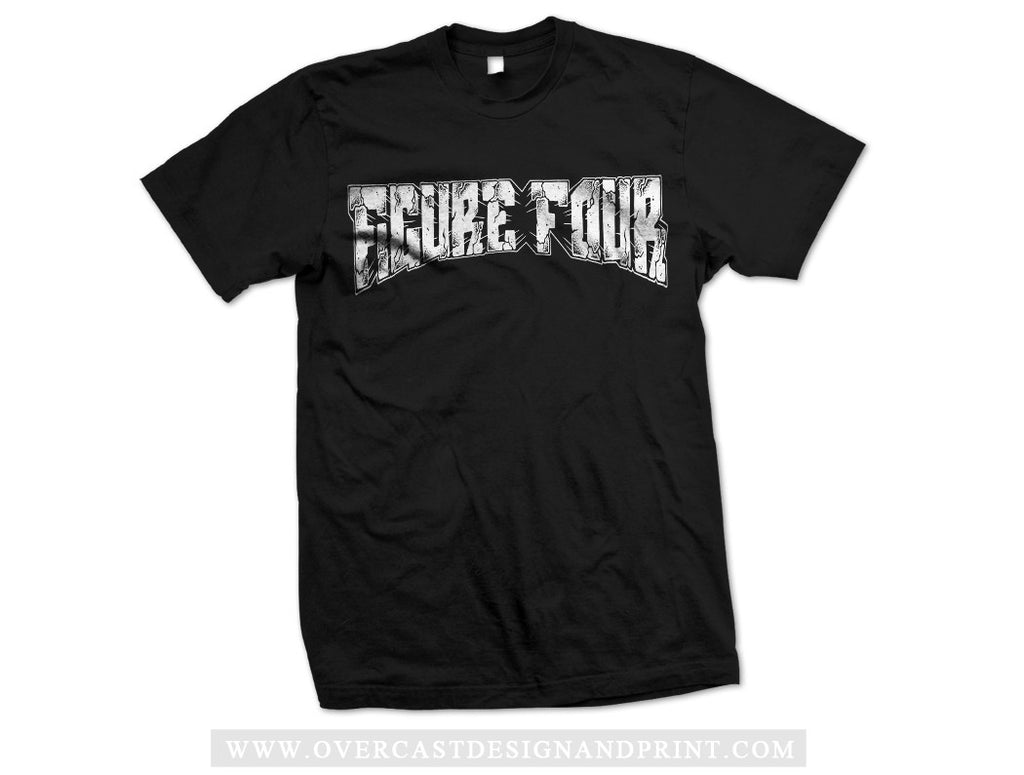 "Figure Four ""Logo"" Black Tee"