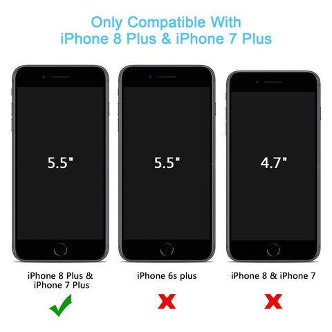 Compatible with iPhone 8 Plus / 7 Plus Screen Protector