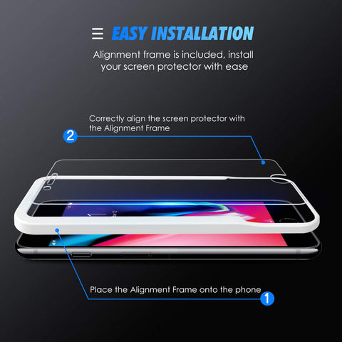 SPARIN [4 Pack Compatible with iPhone 8 Plus / 7 Plus Screen Protector,[Case Friendly] [Tempered Glass ] [Bubble Easy Installation] [2.5D Curved Edge] [HD Clear]