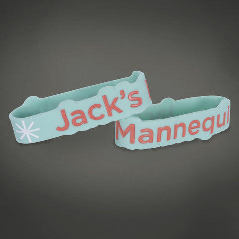 JM Teal Die Cut Wristband