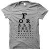 Thumbnail of Eye Chart Tee (Grey)