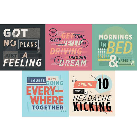 AMitW Lyric Sticker Pack of 5 (part 2)