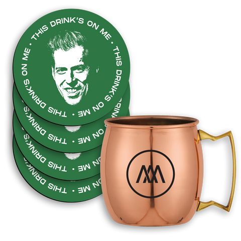 **LIMITED** Copper Logo Mug & Coaster Set
