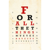 Thumbnail of Autographed Cecilia Eye Chart Lyric Print