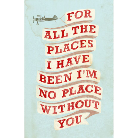 For All the Places Autographed Lithograph