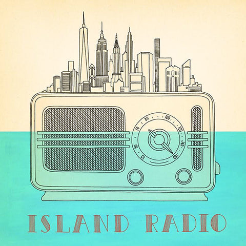 Island Radio Lithograph Poster (Autographed)