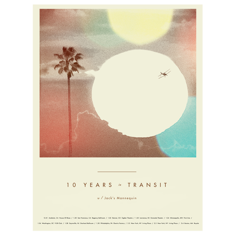 10 Years in Transit Tour Poster (Autographed)