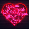 Thumbnail of Heart Like a Neon Sign Lithograph (Autographed)