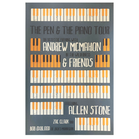 The Pen & The Piano Tour Poster