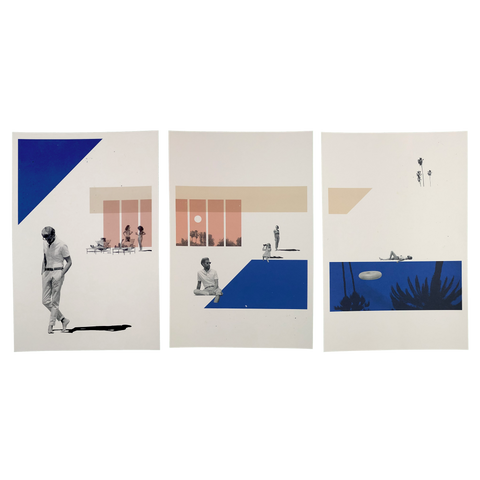 Limited Edition Triptych Lithograph