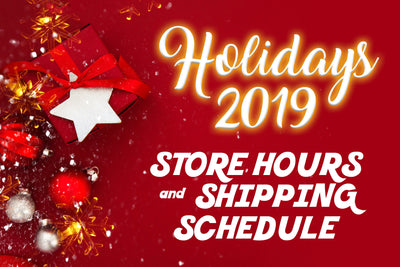 Holiday Store Hours & Shipping 2019