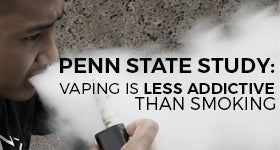 "Penn State Study: E-Cigs ""Less Addictive"" Than Tobacco Cigarettes"
