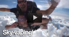 Vaping and skydiving with Volcanoecigs