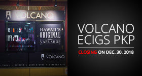 VOLCANO eCigs PKP to Close on December 30th