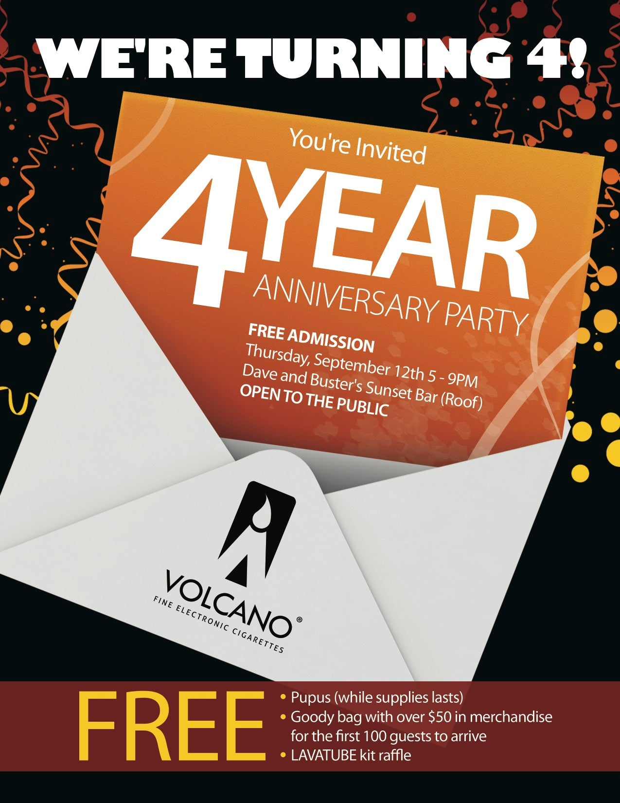 4 Year Anniversary Party