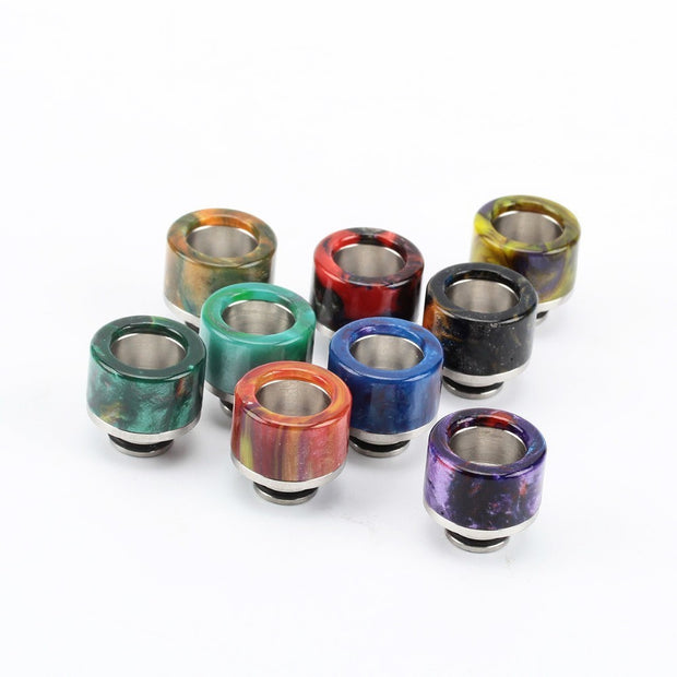 Epoxy Resin Drip Tip - 510 Stainless Steel Wide Bore