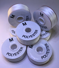 "PAPERSIDED WHITE BATABOFF PRE-WOUND EMBROIDERY BOBBINS ""M"""
