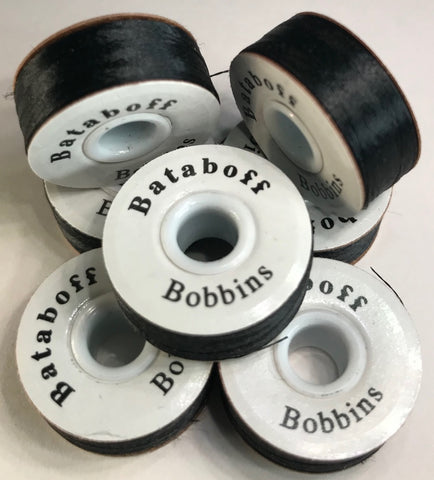 "Picture of PAPERSIDED BLACK BATABOFF PRE-WOUND EMBROIDERY BOBBINS ""L"""