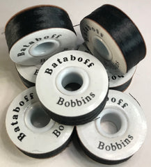 "PAPERSIDED BLACK BATABOFF PRE-WOUND EMBROIDERY BOBBINS ""L"""