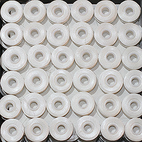 "Picture of SIDELESS WHITE BATABOFF PRE-WOUND EMBROIDERY BOBBINS ""L"""