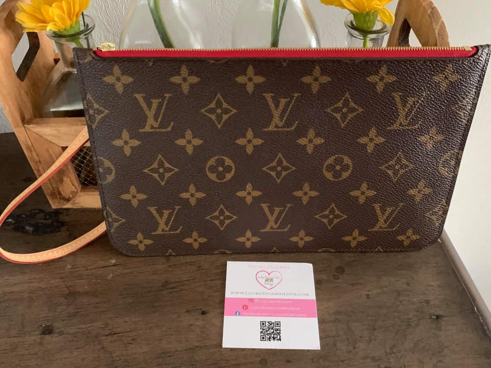 Authentic Pre-owned Louis Vuitton Neverfull Pouch