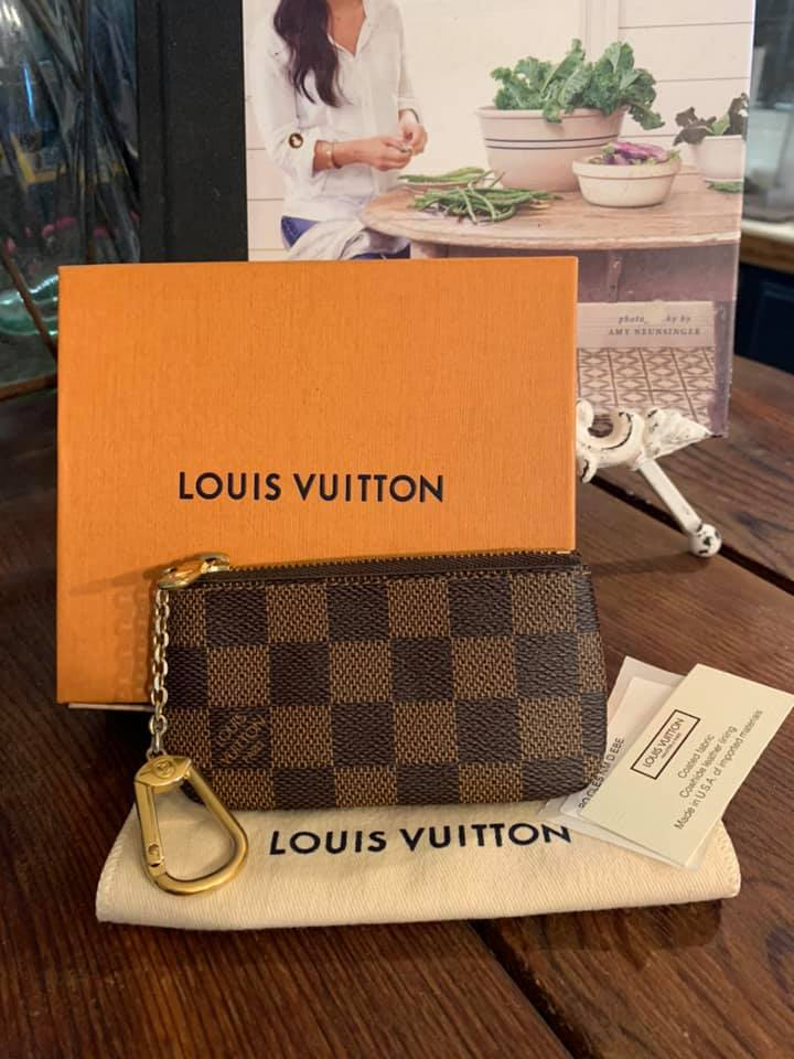 Authentic Louis Vuitton Damier Ebene Pouch