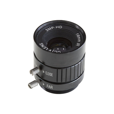 Arducam CS-Mount 16mm Focal Length with Manual Focus and Adjustable Aperture Lens for Raspberry Pi HQ Camera