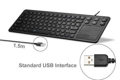 15 Inch USB Keyboard with Touchpad